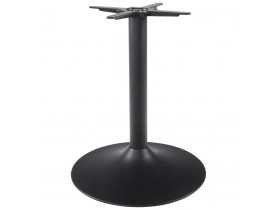 Pied de table 'BLAK' 75 en métal noir