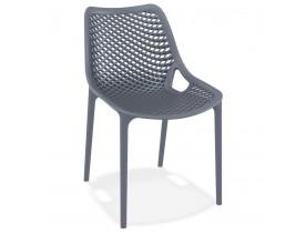 Chaise moderne 'BLOW' gris foncé en matière plastique