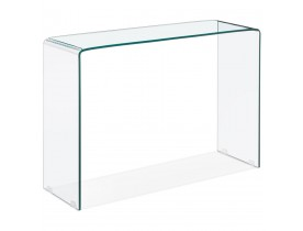 Table console design 'BOBBY CONSOLE' en verre transparent