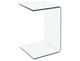 Bout de canapé / Table d'appoint 'BOBBY U SHAPE' en verre transparent