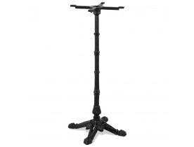 Pied de table style rustique 'CABARET' 110 en métal noir