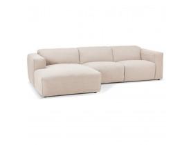 Petit canapé d'angle design 'CANYON L SHAPE MEDIUM' beige (angle à gauche)