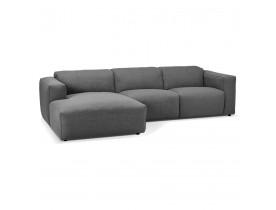 Petit canapé d'angle design 'CANYON L SHAPE MEDIUM' gris foncé (angle à gauche)
