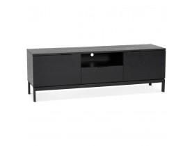 Meubles tv design 'CATODIK' en bois et métal noir