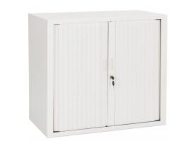 Petite armoire de bureau à rideaux 'CLASSIFY' blanche - 72x80 cm
