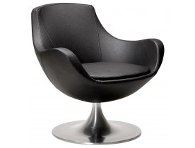 Fauteuil 'COKPIT' rotatif design en matière synthétique noire
