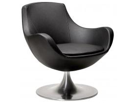 Fauteuil COKPIT rotatif design en similicuir noir - Alterego