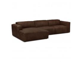 Canapé d'angle design 'COYOT L SHAPE' brun (angle à gauche)