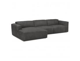 Canapé d'angle design 'COYOT L SHAPE' gris foncé (angle à gauche)
