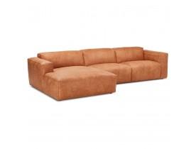 Canapé d'angle design 'COYOT L SHAPE' couleur cannelle (angle à gauche)