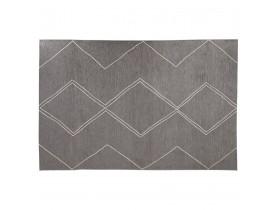 Tapis design 'CYCLIK' 200x290 cm gris foncé avec motifs zigzags - intérieur / extérieur
