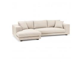 Canapé d'angle design 'DALTON L SHAPE' en tissu beige (angle à gauche)
