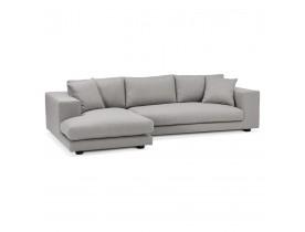 Canapé d'angle design 'DALTON L SHAPE' en tissu gris clair (angle à gauche)