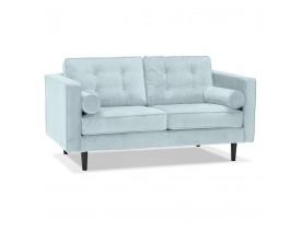 Canapé droit design 'DELYA' en velours bleu clair - Canapé 2 places