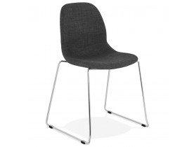 Chaise design 'DISTRIKT' en tissu gris foncé