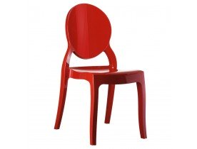 Chaise design ELIZA rouge en matiere plastique - Alterego