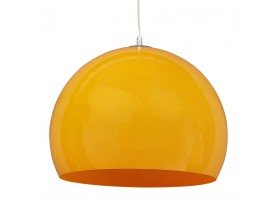 Suspension boule ELMET en matière plastique orange - Alterego