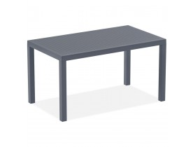 Table de jardin 'ENOTECA' design en matière plastique grise foncée - 140x80 cm