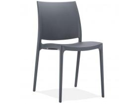 Chaise design 'ENZO' gris foncé