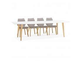 Table a diner design extensible ESKIMO style scandinave - Alterego