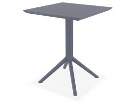 Table de terrasse pliable 'FOLY' carrée gris foncé - 60x60 cm