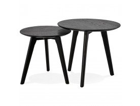Tables gigognes ronde GABY noires - Alterego