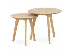 Tables gigognes ronde GABY en bois naturel - Alterego