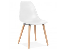 Chaise design scandinave 'GLORIA' blanche