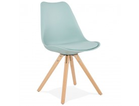 Chaise scandinave 'GOUJA' bleue