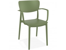 Chaise avec accoudoirs 'GRANPA' en matière plastique verte