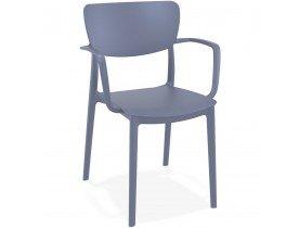 Chaise avec accoudoirs 'GRANPA' en matière plastique grise foncée