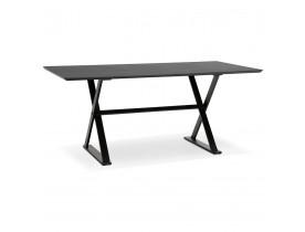 Table à diner / bureau design avec pieds en croix 'HAVANA' noire - 180x90 cm