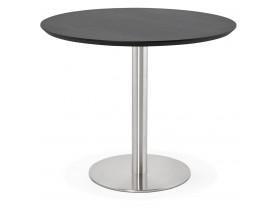 Petite table de bureau / à diner ronde 'INDIANA' noire - Ø 90 cm