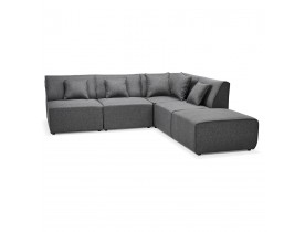 Canape d'angle modulable INFINITY COMBI gris fonce - Alterego