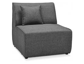 Element 1 place de canape modulable INFINITY SEAT gris fonce - Alterego