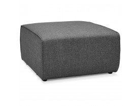 Element pouf de canape modulable INFINITY ONE gris fonce - Alterego