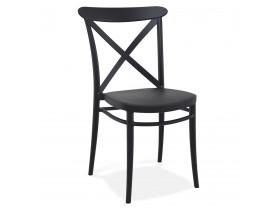 Chaise empilable 'JACOB' style rétro en matière plastique noire