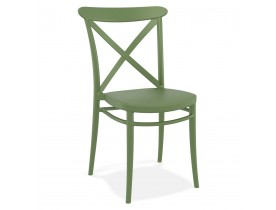 Chaise empilable 'JACOB' style rétro en matière plastique verte