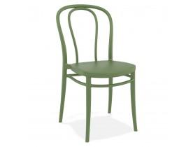 Chaise empilable 'JAMAR' intérieur / extérieur en matière plastique verte