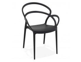Chaise de terrasse JULIETTE design noire - Alterego