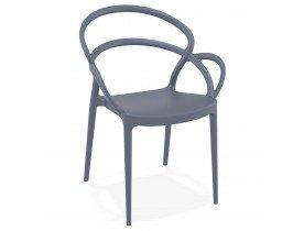 Chaise de terrasse 'JULIETTE' design grise foncée