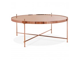 Table basse de salon 'KOLOS BIG' couleur cuivre