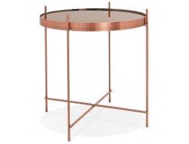 Table d'appoint pliable 'KOLOS' couleur cuivre