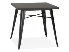 Petite table à dîner style industriel 'LALOU' noire - 76x76 cm