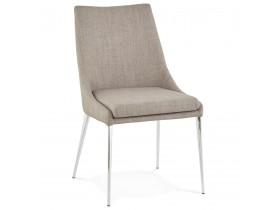 Chaise design 'LALY' en tissu gris