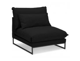 Grand fauteuil lounge 'LASKA' en tissu noir 1 place
