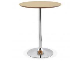 Mange-debout / table haute 'LIMA' en bois finition naturelle - Ø 90 cm