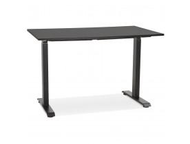 Petit bureau assis/debout 'LIVELLO' en bois et métal noir - 120x60 cm