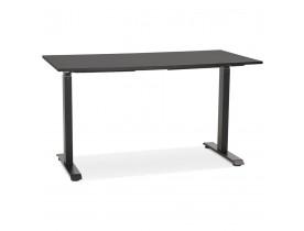 Bureau droit assis/debout 'LIVELLO' en bois et métal noir - 140x70 cm