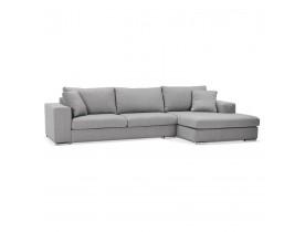 Canapé d'angle moderne 'LUCA L SHAPE' en tissu gris clair (angle à droite)